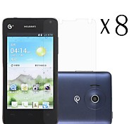 [8-Pack] High Transparency LCD Crystal Clear Screen Protector with Cleaning Cloth for Huawei Y300/U8833/T8833