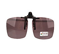 100% UV400 Men's Rectangle Resin Clip-on Sunglasses Lenses