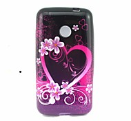 4 Inch Love Pattern TPU Soft Case Back Cover for Nokia Lumia 530