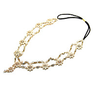 Vintage Pearl Flower Gold Chain Hairband Hair accessories Crown Hair jewelry Headband Styling Tools Head Chain