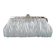 Women Silk Satin Event/Party Evening Bag White Pink Purple Blue Gold Brown Silver Gray Black Fuchsia