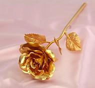 24k alta calidad lámina de oro puro de oro rosa - rosas llenas dulce regalo para su amante para siempre amor rosa de oro