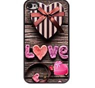 rosa Liebe Design Aluminium-Hülle für das iPhone 4 / 4s