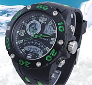Men's LCD Military Water Resistant Analog-Digital Fashion Sports Watch(Assorted Colors)