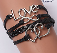 leather Charm BraceletsMultilayer Mutual Affinity Alloy Charms Handmade Leather Bracelets inspirational bracelets Jewelry