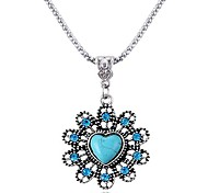 Love Sapphire Diamond Flower Necklace