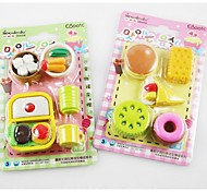 Food Design Eraser Set(Random Color)