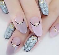 200PCS Beige Pearl Metal Lipping Nail Art Decorations 4mm