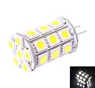 GC® G4 4W 27x5050SMD 200LM 6000K White LED Corn Light Bulb (DC 12V)