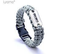 lureme® paracord Entspannung Marks Logo Armband