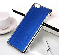 Fashion Brushed Metal Plating Metal Back Cover for iPhone 6(Assorted Colors)