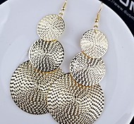 Earring Drop Earrings Jewelry Daily / Casual Alloy Gold / Black / Silver
