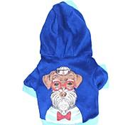 Cat / Dog Hoodie Blue Winter Letter & Number