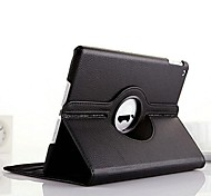 High Quality Litchi Pattern PU Protect Holster with 360 Degree Rotationfor iPad Air