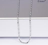 eruner®unisex silver 1 millimetro catena collana no.13