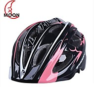 Moon Kid's 17 Vents EPS+PC Pink+Black Integrally-molded Cycling Helmet(52-55cm)