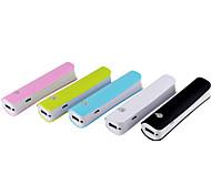 2600mah sola sección banco de potencia para 5s iPhone5 6/6 más de Samsung y otros dispositivos móviles (color clasificado)