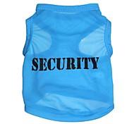"Lovely ""SECURITY"" Pattern Terylene Vest for Dogs (Assorted Sizes)"