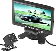 7 Inch TFT LCD Color 480 x 234 Pixels Stand/Mount Car Rear View Headrest Monitor with 420 TV Lines Night Vision Camera