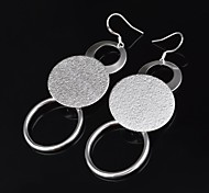Women's Silver Drop Earrings With Non Stone