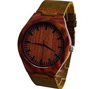 Men's Watch Pure RED Sandalwood Quartz Dress Watch Fashion Vogue Leisure Watch Cow Leather Band Cool Watch Unique Watch