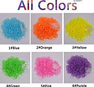 baoguang®600pcs color del arco iris telar translúcido colorido (gancho 24pcs, colores surtidos)