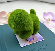 Cute Green Artificial Grass Dog for Car and Home Decoration