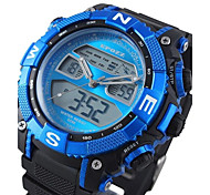 Men's Watch Water Resistant LCD Chronograph Rubber Band Sports Watch(Assorted Colors)