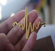 Fashion Electrocardiogram Silvery Alloy Charm Accessory(3pcs)(Golden)