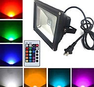 20 W 1 High Power LED 1900 LM RGB Remote-Controlled Flood Lights AC 85-265 V