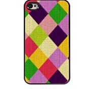 kleurrijk ruitmotief aluminium koffer voor iPhone 4 / 4s