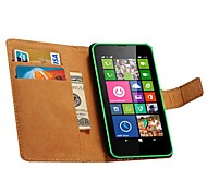 Genuine Leather Wallet Style Case for Nokia Lumia 630 635 (Assorted Colors)