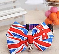 Dog Collar Adjustable/Retractable / With Bell Red / Blue Nylon