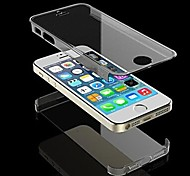 Double Face Transparent Clear Hard Case for iPhone 5/5S