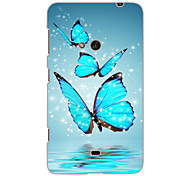 Butterfly Design Hard Case for Nokia N625