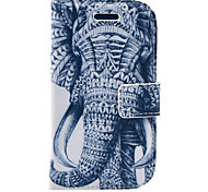 Elephant Pattern PU Leather Case with Screen Protector and Stylus and Cable for Samsung Galaxy S3 Mini I8190