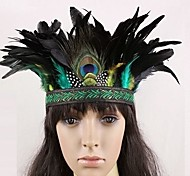 Headpiece Cosplay Festival/Holiday Halloween Costumes Black Solid Headpiece Halloween / Carnival Unisex Feather