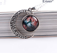eruner®moon lua jóias colar de pingente lua galáxia presente estrelas do universo espaço para