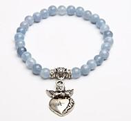 Personalized Gift Natural Stone Bracelet Blue Crystal Strand Bracelets