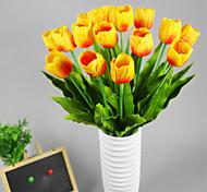 juego de 2 falsas flores pu tulipán, color al azar de resina