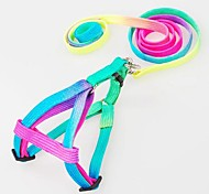 Adjustable Nylon Multicolour Harness with Leash for Pet Dogs