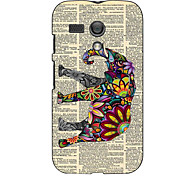 Relief Designed Colorful Elephant Design Hard Case for Motorola MOTO G