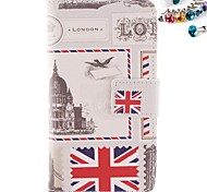 The British Flag Pattern PU Leather Full Body Case with Card Slot And Stand with Dustproof Plug for Nokia Lumia N630