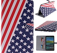 el diseño de la bandera de la PU cuero caso de cuerpo completo americano con soporte y tarjeta de ranura para samsung galaxy tab 8.4 s t700