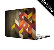"""die hölzerne Gitter-Design Ganzkörper-Schutzkunststoffgehäuse für 13 """"/ 15"""" MacBook-Pro mit Retina-Display"""