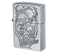 6136-3 tasca portatile olio lega di disegno del cranio mercato dello zinco più leggero (grigio argenteo)