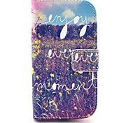 Flowers Pattern PU Leather Case with Stand for Samsung Galaxy S3 MINI I8190