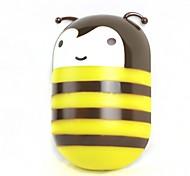 o 200LM abelha decoração 2w levou a poupança de energia luz sensoriamento lâmpada de parede branco quente