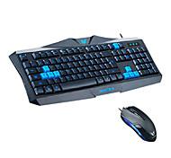 T6300 bs juegos usb teclado luminoso y el ratón kit 1600dpi