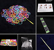 Fashion Loom Set (600pcs Rubber Bands,1 Package C or S Clips ,1 Hook,1Looms)